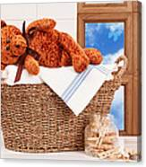 Laundry With Teddy Canvas Print