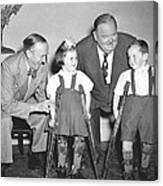 Laurel And Hardy In Ireland Canvas Print