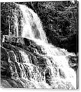 Laurel Falls Smoky Mountains 2 Bw Canvas Print