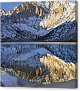 Laurel Mt And Convict Lake Sierra Canvas Print