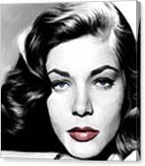 Lauren Bacall Large Size Portrait Canvas Print