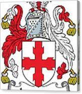 Laurence Coat Of Arms Irish Canvas Print