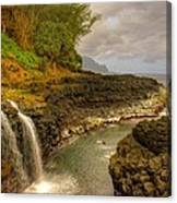 Lava Inlet Canvas Print