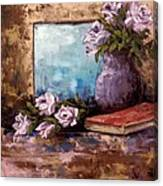 Lavendar Roses Canvas Print