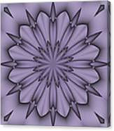 Lavender Abstract Flower Canvas Print
