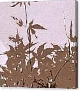 Lavender And Taupe Haiku Canvas Print