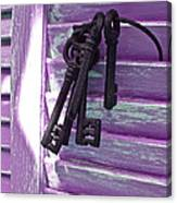 Lavender Cottage Keys Canvas Print
