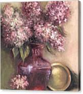 Lavender Hydrangeas Canvas Print