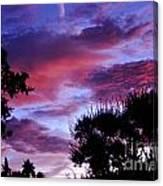 Lavender Pink And Blue Sunrise Canvas Print