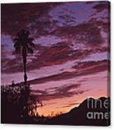 Lavender Red And Gold Sunrise Canvas Print