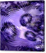 Lavender Water Abstract Canvas Print