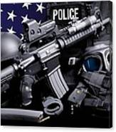 Law Enforcement Tactical Police Canvas Print