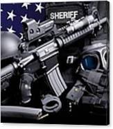 Law Enforcement Tactical Sheriff Canvas Print