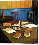 Lawyer - 19th Century Lawyer's Office Canvas Print