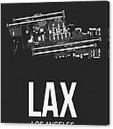 Lax Los Angeles Airport Poster 3 Canvas Print