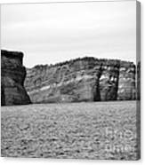 Layers Of Bedrock Canvas Print