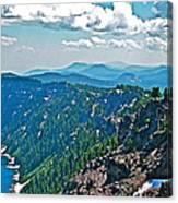 Layers Of Mountains From Watchman Overlook In Crater Lake National Park-oregon  Canvas Print