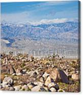 Layers Of The Desert Canvas Print