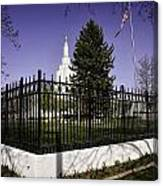 Lds Idaho Falls Temple Canvas Print