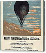 Le Ballon Advertising For French Aeronautical Journal Canvas Print