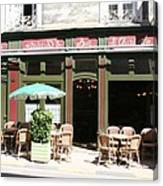 Le Charleston Bar In Tournus Canvas Print