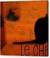 Le Chat Canvas Print