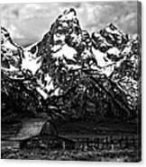 Le Grande Teton And Barn Canvas Print