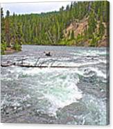 Le Hardy Rapids In Yellowstone River In Yellowstone National Park-wyoming   Canvas Print