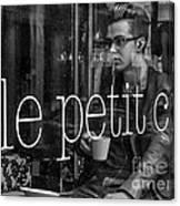 le petit cafe' Montreal Canvas Print