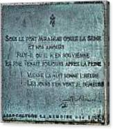 Le Pont Mirabeau Canvas Print