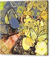 Le Printemps Des Papillons Canvas Print