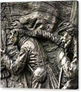 Leading The Way - State Of Delaware Monument Detail-j Gettysburg Canvas Print