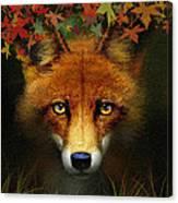 Leaf Fox Canvas Print