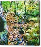 Leaf Stream Canvas Print