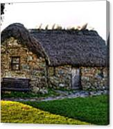 Leanach Cottage Canvas Print