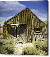 Leaning Barn Of Bodie California Canvas Print