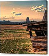 Leaning In To Devil's Tower Canvas Print