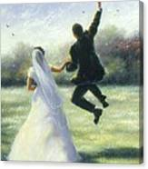 Leap Of Love Canvas Print