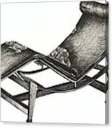 Leather Chaise Longue Canvas Print