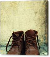 Leather Children Boots Canvas Print