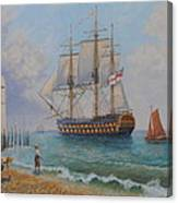 Leaving Portsmouth Harbour Canvas Print