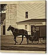 Leaving The Farm Canvas Print