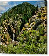 Leavitt Falls From Afar Canvas Print