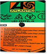 Led Zeppelin Iv Side 1 Canvas Print