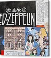 Led Zeppelin Past Times Canvas Print