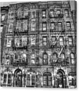 Led Zeppelin Physical Graffiti Building In Black And White Canvas Print
