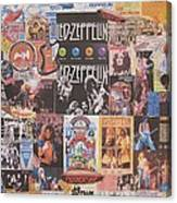 Led Zeppelin Years Collage Canvas Print