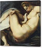 Leda And The Swan Canvas Print