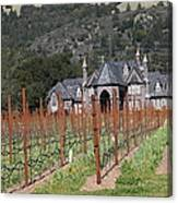 Ledson Winery And Vineyard In Late Winter Just Before The Bloom 5d22192 Canvas Print