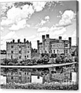 Leeds Castle Black And White Canvas Print